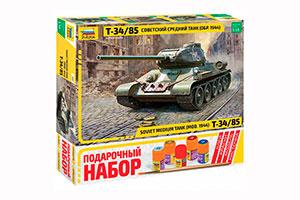 MODEL KIT SOVIET MEDIUM PANZER TANK T-34/85 | СОВЕТСКИЙ СРЕДНИЙ ТАНК Т-34/85 *СБОРНАЯ МОДЕЛЬ