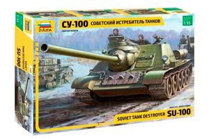 MODEL KIT SOVIET TANKS SU-100 | СОВЕТСКИЙ ИСТРЕБИТЕЛЬ ТАНКОВ СУ-100 *СБОРНАЯ МОДЕЛЬ