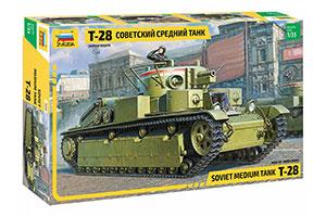 MODEL KIT SOVIET MEDIUM PANZER TANK T-28 | СОВЕТСКИЙ СРЕДНИЙ ТАНК Т-28 *СБОРНАЯ МОДЕЛЬ
