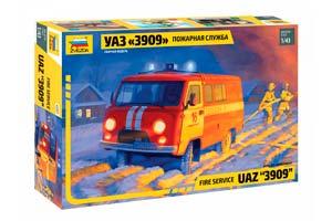 MODEL KIT - UAZ 3909 FIRE SERVICE | СБОРНАЯ МОДЕЛЬ - УАЗ «3909» ПОЖАРНАЯ СЛУЖБА