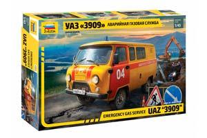 MODEL KIT UAZ-3909 LOAF EMERGENCY GAS SERVICE | УАЗ-3909