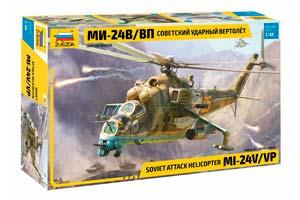 MODEL KIT SOVIET IMPACT HELICOPTER MI-24V / VP | СОВЕТСКИЙ УДАРНЫЙ ВЕРТОЛЕТ МИ-24В/ВП *СБОРНАЯ МОДЕЛЬ