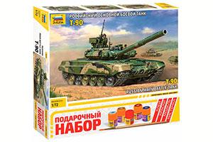 MODEL KIT RUSSIAN TANK T-90 GIFT SET | РОССИЙСКИЙ ТАНК Т-90 ПОДАРОЧНЫЙ НАБОР *СБОРНАЯ МОДЕЛЬ