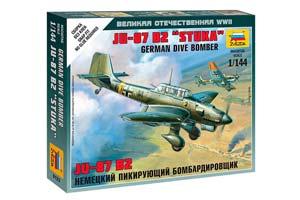 MODEL KIT GERMAN DIVING BOMBER JU-87 B2 STUKA | НЕМЕЦКИЙ ПИКИРУЮЩИЙ БОМБАРДИРОВЩИК JU-87 B2