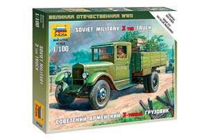 MODEL KIT SOVIET ARMY 3-TON TRUCK ZIS-5   СБОРНАЯ МОДЕЛЬ - СОВЕТСКИЙ АРМЕЙСКИЙ 3-ТОННЫЙ ГРУЗОВИК ЗИС-5 *СБОРНАЯ МОДЕЛЬ