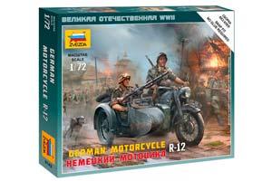 MODEL KIT GERMAN MOTORCYCLE R-12 | НЕМЕЦКИЙ МОТОЦИКЛ R-12 *СБОРНАЯ МОДЕЛЬ