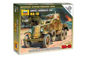 MODEL KIT SOVIET ARMOR BA-10 | СОВЕТСКИЙ БРОНЕАВТОМОБИЛЬ БА-10 *СБОРНАЯ МОДЕЛЬ