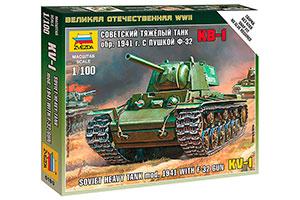 MODEL KIT SOVIET HEAVY PANZER TANK KV-1 OBR. 1941 WITH GUN F-32 | СОВЕТСКИЙ ТЯЖЁЛЫЙ ТАНК КВ-1 ОБР. 1941Г. С ПУШКОЙ Ф-32