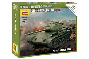 MODEL KIT SOVIET MEDIUM TANK T-44 | СОВЕТСКИЙ СРЕДНИЙ ТАНК Т-44 *СБОРНАЯ МОДЕЛЬ