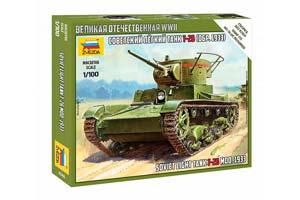 MODEL KIT SOVIET LIGHT PANZER TANK T-26 | СОВЕТСКИЙ ЛЕГКИЙ ТАНК Т-26