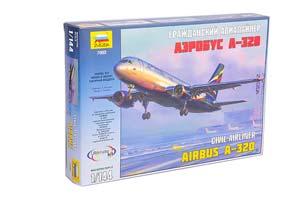 MODEL KIT CIVIL AIRLINER AEROBUS A-320 | ГРАЖДАНСКИЙ АВИАЛАЙНЕР АЭРОБУС А-320 *СБОРНАЯ МОДЕЛЬ