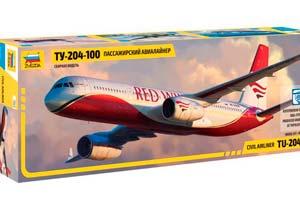 MODEL KIT PASSENGER AIRLINER TU-204-100 | ПАССАЖИРСКИЙ АВИАЛАЙНЕР ТУ-204-100