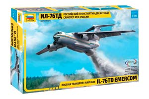 MODEL KIT RUSSIAN TRANSPORT AIRCRAFT IL-76 TD EMERCOM OF RUSSIA | РОССИЙСКИЙ ТРАНСПОРТНО-ДЕСАНТНЫЙ САМОЛЕТ ИЛ-76 ТД МЧС РОССИИ
