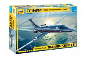 MODEL KIT TRAINING AND TRAINING PLANE TU-134UBL | УЧЕБНО-ТРЕНИРОВОЧНЫЙ САМОЛЁТ ТУ-134УБЛ *СБОРНАЯ МОДЕЛЬ