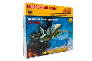 MODEL KIT FRONT BOMBER SU-24M WITH ADHESIVE BRUSH AND PAINTS | ФРОНТОВОЙ БОМБАРДИРОВЩИК СУ-24М С КЛЕЕМ КИСТОЧКОЙ И КРАСКАМИ