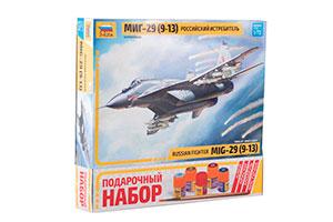MODEL KIT MIG-29 (9-13) AIRPLANE WITH ADHESIVE BRUSH AND PAINTS | САМОЛЕТ МИГ-29 (9-13) С КЛЕЕМ КИСТОЧКОЙ И КРАСКАМИ