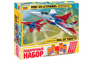 MODEL KIT MIG-29 SWITCHES WITH ADHESIVE BRUSH AND PAINTS. | МИГ-29