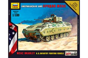 MODEL KIT AMERICAN BMP BRADLEY M2A2 | СБОРНАЯ МОДЕЛЬ - АМЕРИКАНСКИЙ БМП
