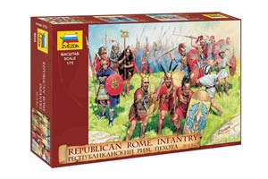 MODEL KIT REPUBLICAN ROMAN INFANTRY III-II CENTURIES. BC. | РЕСПУБЛИКАНСКАЯ РИМСКАЯ ПЕХОТА III-II ВВ. ДО Н.Э.