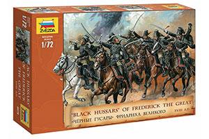 FIGURINE MODEL KIT BLACK HUSSARS OF FREDERICK THE GREAT   ЧЕРНЫЕ ГУСАРЫ ФРИДРИХА ВЕЛИКОГО *СБОРНАЯ МОДЕЛЬ