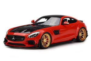 Mercedes C190 AMG GT Modified By Prior Design 2017 Red Limit...